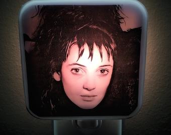 Lydia Deetz Night Light Tim Burton Retro 80s Movie Recently Deseased Strange Unusual Winona Ryder Nightlight Plug in Gift Horror Decor Goth