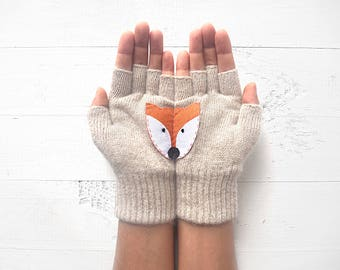 Fox Gloves, Wildlife Kingdom, Sales Event, Fox Lover Gift, Animal Gift, Gift For Friend, Wildlife Gift, Mother's Gift, Women Gloves, Sales