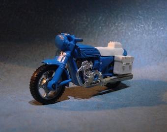 Vintage Police Motorcycle Die-Cast Toy Majorette