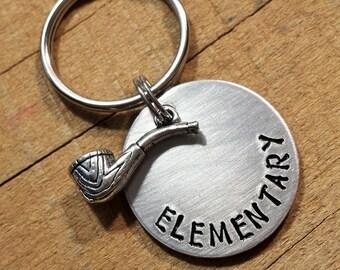 Sherlock Holmes - Elementary Keychain - Sherlock Keychain - Sherlock Key Ring - Sherlock Holmes Gift - Elementary Key Ring - Sherlock Gift