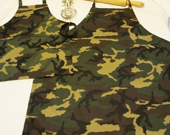 Father Son Camouflage Aprons