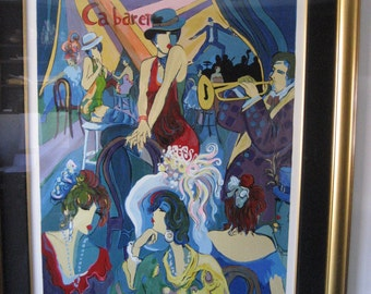 """Isaac Maimon Serigraph """"Cabaret"""" Signed, Framed, And Ready For Hanging"""