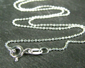16 Inch Sterling Silver Diamond Cut Chain Necklace