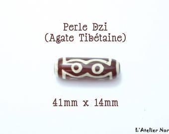 Beautiful Tibetan agate (Dzi bead) 41mm x 14mm bead