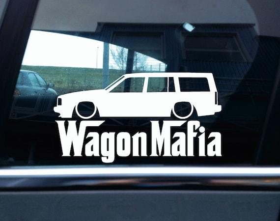 Low wagon mafia car sticker for volvo 740 turbo station wagon from sundownstickers on etsy studio