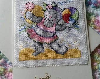 Cross stitch/Embroidered any occasion cards