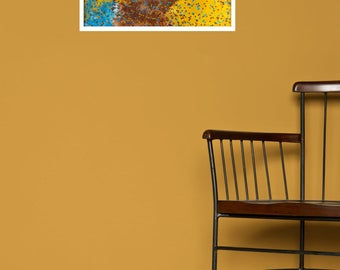 """Abstract wall print on archival luster paper - """"Simulacrum"""""""