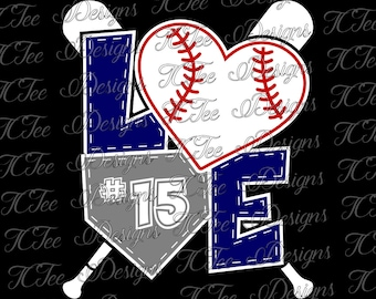 Love Baseball - Baseball Mom SVG Design Download - Vector Cut File