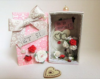 """Message of love """"and, let's get married"""""""