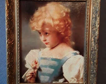 Stunning Portrait Of A Victorian Girl on Canvas