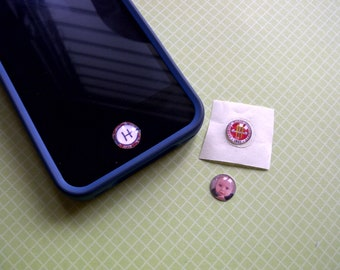 3 Personalized iphone/ ipad Home Button sticker