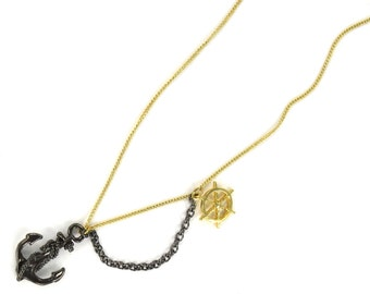 Birdhouse Jewelry - Anchor Swag Necklace