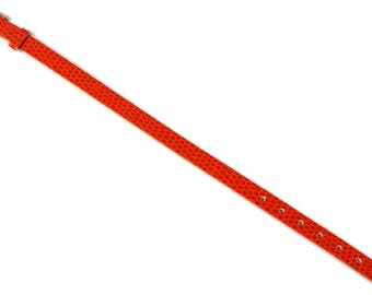 ORANGE faux snake skin bracelet holder