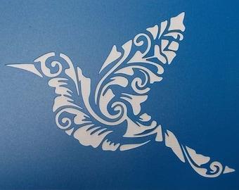Bird Flourish Stencil