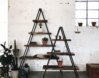 IN STOCK- A-Frame Industrial Bookshelf
