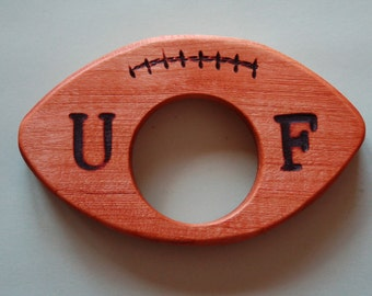 All natural, eco-friendly PERSONALIZED football toy, rattle, teether