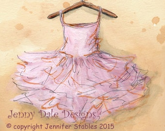 Ballet tutu: Art print with Poetry