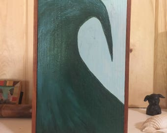 Surf Painting- Original oil painting titled   Wave Study #2