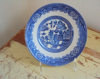 Blue Willow Bowl, WOODSWARE, 1970's