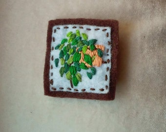 Houseplant Patch: Pothos in Peach Planter (Patch, Pin, Brooch, or Magnet)