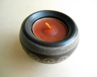 candle holder votive and tapered / NAVARRA / kmk Kupfermühle / W. Germany / vintage / 1985 - 1991