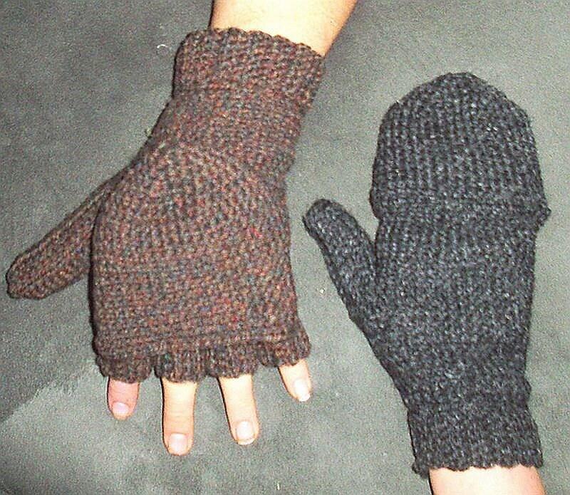 Convertible Mittens Gloves, Uninterrupted Crochet Pattern Glittens ...