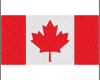 Canadian Flag Embroidery Design 2 sizes