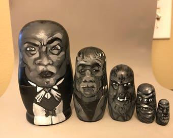 Universal Monsters Nesting Dolls set