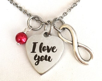 I love you, Valentine's Day gift, girlfriend gift, BFF, best friend, mother, Mother's Day, infinity.