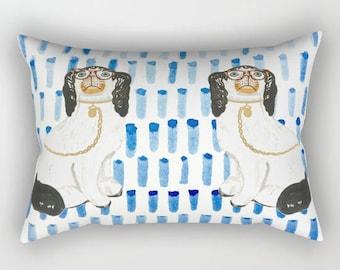 BESPECTACLED ON BLUE Rectangular Pillow - 3 Sizes