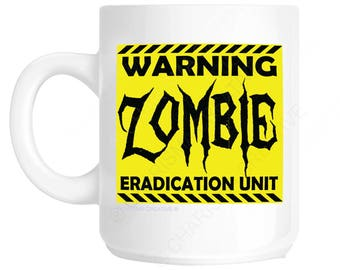 Warning Zombie Novelty Fun Mug CH385