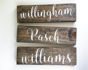 Last Name Sign - Last Name Wall Sign -Wood Signs Last Name-Last Name Signs - Last Name Wall Decor - Family Name Sign - Rustic Last Name Sign