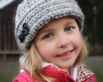 Crochet Hat Pattern: 'Keenan Cap' for girls too! Crochet Kids