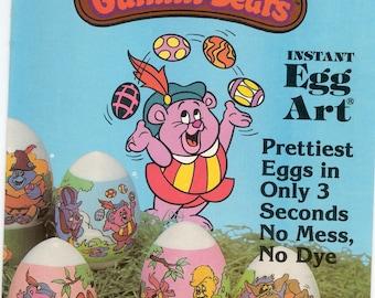 Instant Egg Art (R) / Twelve Egg Wrappers / Disney's Gummi Bears / By Sun Hill / Plastic Egg Sleeves