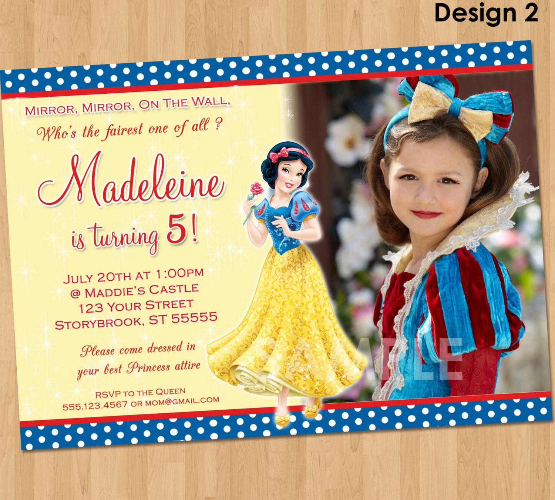 snow white birthday party invitations - Etame.mibawa.co