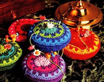 Crochet Pattern, Crochet Home Decor Pattern, Pin Cushion Pattern, Pincushion Gift for Sewer, INSTANT Download Pattern PDF (1601)
