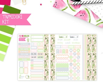 SPRING FLORAL Travelers Notebook (Pocket)  Weekly Planner Stickers  for Erin Condren Life Planner | WPO51-TN