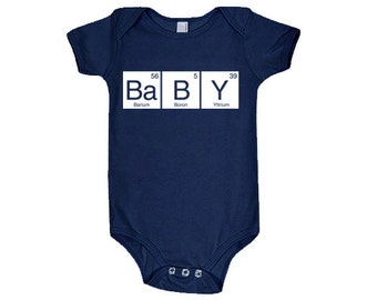 Periodic table baby etsy baby periodic table cotton baby one piece bodysuit infant girl and boy urtaz Images