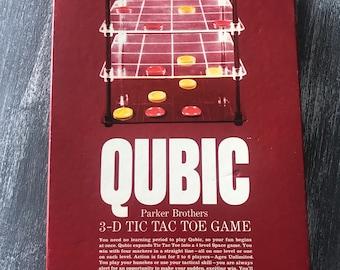 Vintage Qubic Game 3D Tic Tac Toe Game Parker Brothers 1965