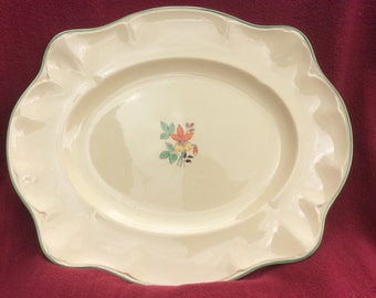 "Johnson Brothers Victorian Oval Server Platter 15 1/4"" x 12 3/4"""