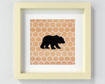 Instant Download Bear Print, Printable Bear Nursery Art, Animal Nursery Print, Baby Decor, Baby Shower Gift, New Baby Gift, Art for Nursery