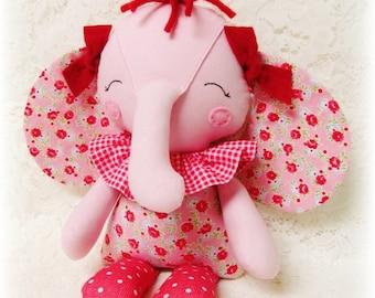 EASY Elephant Softie PATTERN, PDF sewing pattern, Soft Doll, Toy, Stuffed Animal, Cloth Doll, Rag Doll, Digital Download