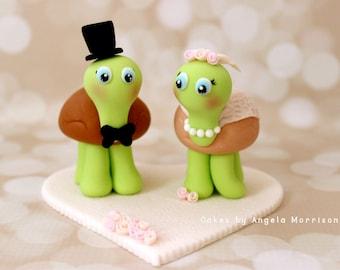 Turtles wedding cake topper