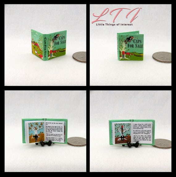 Kit CAPS For SALE Book PDF Dollhouse Miniature Book 1:12 Scale Book Illustrated Accessory Children