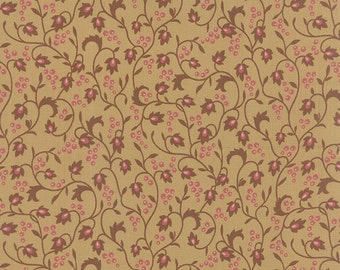 Sticks & Stones - Vines Berries in Tan by Laundry Basket Quilts for Moda Fabrics