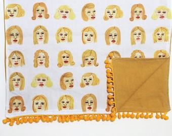 Blonde Girls Tea Towel