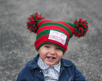 Baby's First Christmas Hat/ Christmas Hat/ Baby's First Christmas Hat/ Christmas Photo Prop/ Newborn Photo prop/ 1st Christmas