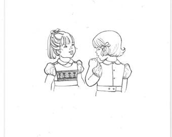 Children's Corner Smocking Pattern Girl's Smocked Bib Size 3