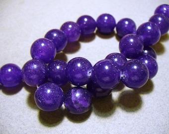 Jade Beads Gemstone Purple Round 12MM