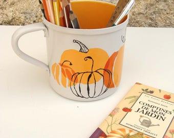 "Pencil holder, planter, Cup ""October"""